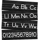 Schoolgirl Style™ Industrial Chic Alphabet Line Manuscript Mini Bulletin Board Set