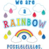 Schoolgirl Style™ Hello Sunshine We Are a Rainbow of Possibilities Bulletin Board Set