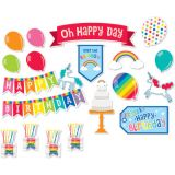 Schoolgirl Style™ Hello Sunshine Birthday Mini Bulletin Board Set