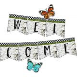 Schoolgirl Style™ Woodland Whimsy Welcome Bulletin Board Set
