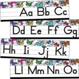 Schoolgirl Style™ Woodland Whimsy Alphabet Line: Manuscript Mini Bulletin Board Set