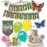 Schoolgirl Style™ Woodland Whimsy Birthday Mini Bulletin Board Set