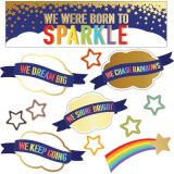 Sparkle + Shine We Were Born to Sparkle Mini Bulletin Board Set