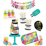 Schoolgirl Style™ Simply Stylish Tropical Pineapple Birthday Bulletin Board Set