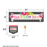 Schoolgirl Style™ Simply Stylish Tropical Classroom Jobs Mini Bulletin Board Set