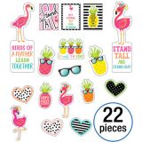 Schoolgirl Style™ Simply Stylish Tropical Motivational Mini Bulletin Board Set