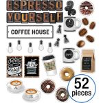 Schoolgirl Style™ Industrial Café Espresso Yourself Mini Bulletin Board Set