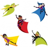 Super Power! Super Kids Colorful Cut-Outs® Assorted Designs