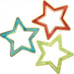 Sparkle + Shine Colorful Cut-Outs®, Rainbow & Foil Stars