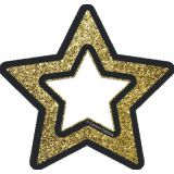 Sparkle + Shine Mini Cut-Outs, Gold Glitter Stars