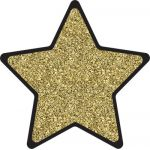 Sparkle + Shine Colorful Cut-Outs®, Solid Gold Glitter Stars