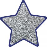 Sparkle + Shine Colorful Cut-Outs®, Solid Silver Glitter Stars