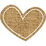 Schoolgirl Style™ Simply Stylish Burlap Stars and Hearts Cut-Outs