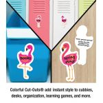 Schoolgirl Style™ Simply Stylish Tropical Flamingos Colorful Cut-Outs®