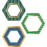 Hexagons with Gold Foil Colorful Cut-Outs®
