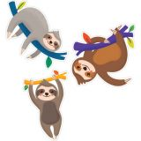 Sloths Colorful Cut-Outs®