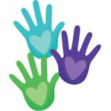 Hands with Hearts Colorful Cut-Outs®