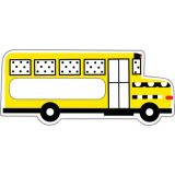 Black, White & Stylish Brights School Bus Cut-Outs
