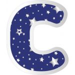 Sparkle + Shine EZ Letters, Navy with Silver Stars