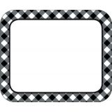 Schoolgirl Style™ Woodland Whimsy Black & White Gingham Name Tags