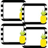 Schoolgirl Style™ Simply Stylish Tropical Pineapple Stripe Name Tags
