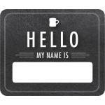 Schoolgirl Style™ Industrial Café Chalkboard Hello Name Tags