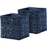 Tabletop Storage, Navy with Silver Stars