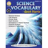 Science Vocabulary Quick Starts Workbook, Grades 4-8+