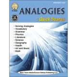 Analogies Quick Starts Workbook, Grades 4-8+
