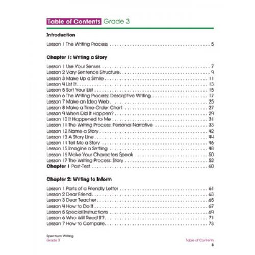 Spectrum® Writing, Grade 3, CD-704572