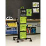 Tech Tub2® Stacking Cart with Powertimer, Holds 24 devices