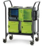 Tech Tub2® Modular Cart with sync and charge USB hub, Holds 24 iPads