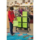 Tech Tub2® Modular Cart with sync and charge USB hub, Holds 32 iPads
