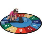 Learning Time Game and Clock Educational Rug