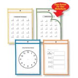 Reusable Dry Erase Pockets, Set of 30