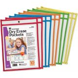 Reusable Dry Erase Pockets Class Pack, 10-Student Pack