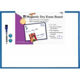 Dry Erase Boards, Magnetic, 17 x 23, w/Eraser/Marker and 2 Magnets, Blue Frame, 1 Each