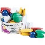 Charles Leonard® Colorful Magnets, Pack of 30
