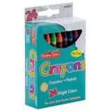 Crayons, Assorted Colors, 24/Bx