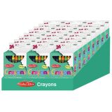Crayons, Assorted Colors, 24/Bx, 24 boxes/Shelf Tray