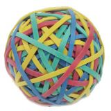 Rubber Bands, Ball (2.95 x 1/8), Assorted Colors