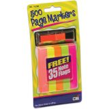 Page Markers, Pack of 100 in 5 neon colors