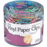 Vinyl Paper Clips, Jumbo, Tub of 200
