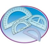 4 Clear Protractor