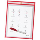 C-Line® Reusable Dry Erase Pockets, 9 x 12, Black, Pack of 25