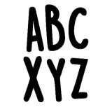 Casual Black 2 Letter Stickers