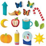 3D Pop! Year-Round Seasonal Accents Bulletin Board Set