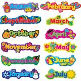 Poppin' Patterns® Seasonal Months of the Year