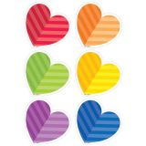 Designer Cut-Outs, Rainbow Hearts, 3