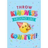 Emoji Fun Inspire U™ Poster, Throw Kindness around